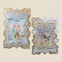 Two Old and Beautiful Valentine Cards With Verses Inside