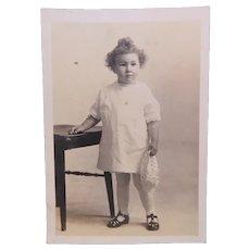 Real Photo Postcard RPPC Little Girl Circa 1920