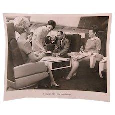 Lockheed L-1011 Original Glossy Photograph of First Class Lounge