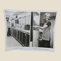 Lockheed L-1011 Original Glossy Photograph of the Galley