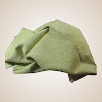 Lime Green 1940s 1950s Sample Upholstery Fabric