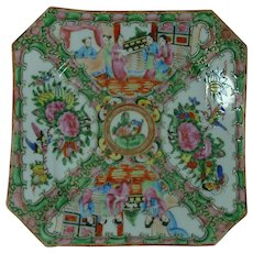 Rose Medallion Pre WWI Chinese Export Luncheon  Plate