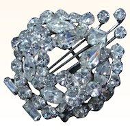Brilliant Rhinestones Brooch/Pin  Mid 20th Century Styling