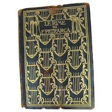 Le Rime Di F. Petrarca Miniature Book Published 1900