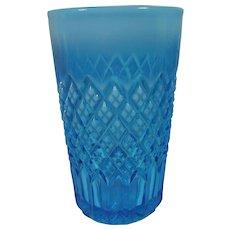 Pressed Glass Davidson Blue Pearline Tumbler - Red Tag Sale Item