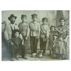 Doshevsky Russian Immigrants 19th c Family Photograph For Geneaology