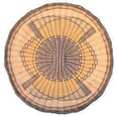 Native Basket Hopi Pueblo 3rd Mesa Plaque Tray Basket