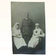 British Nurses Women At War WWI Real Photo Post Card