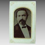 Tintype Photo Image Circa 1860's Hand Tinted
