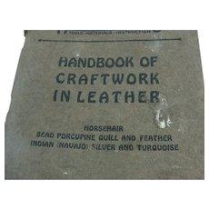 1928 Handicraft Booklet Craftwork In Leather