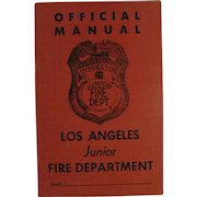 Junior Fire Department Official Manual Los Angeles