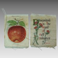Zira Cigarettes Silks, Set of Two Emerson Quote Red Apple
