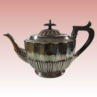 19th Century English Walker & Hall Silver Tea Pot