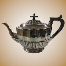 Walker & Hall Silver Tea Pot English 19th Century