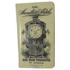 1912 Hamilton Railroad Timekeeper Watch Booklet - Red Tag Sale Item