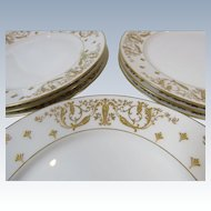 Set 8 French Plates Avenir Limoges  G. Demartine & Cie