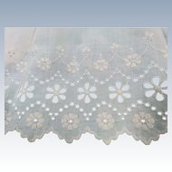 "Edwardian Eyelet Edging 6 1/2"" Wide 96"" Long"