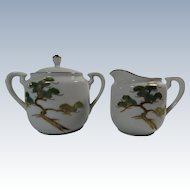 Koshida Japan Yew Tree Creamer and Sugar Set