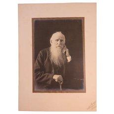 Studio Portrait Old Man Long Beard Piercing Eyes