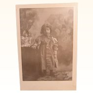 Cabinet Image Little Girl Posing With Her Favorite Doll