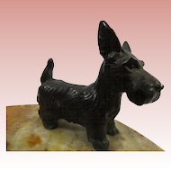 1930s Bronze Scottish Terrier Scottie Scotty Dog Desk Tray