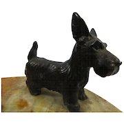 1930s Bronze Scottish Terrier Scottie Scotty Dog Desk Tray