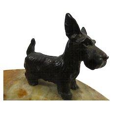 Scottie Dog 1930s Bronze Terrier Scotty Dog Desk Tray