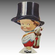 Valentine Mechanical Little Boy Tipping Hat Golf Clubs