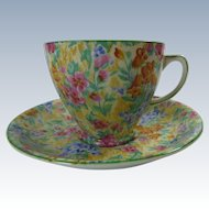 Chintz Samuel Smith Old Royal Bone China Cup And Saucer