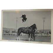 Buck Abbott Rodeo Rider Trick Rider Post Card