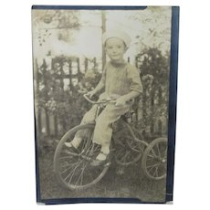 Gerry On Her His Tricycle Photograph Circa 1930