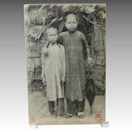 Cochinchine Children Vietnam French Postcard Saigon