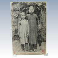 Cochinchine Children Vietnam French Postcard Saigon