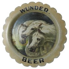 Pre Prohibition Wunder Beer Tip Tray Near Mint