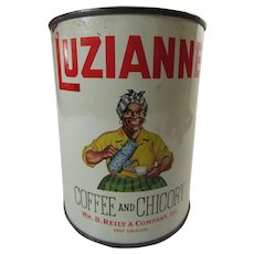 Luzianne Coffee Chicory Tin Can Black Image