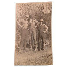 Photo Just One Of The Boys Guys Post Card 1930s