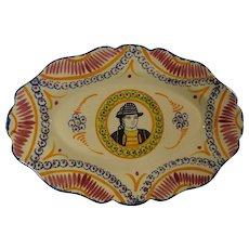 Henriot Quimper 117 Ivoire Corbeille Oval Platter - Red Tag Sale Item