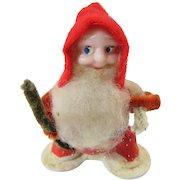 Santa Jolly Ole Elf Ornament 1950s Japan