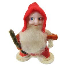 Santa Jolly Ole Elf Ornament 1950s Japan
