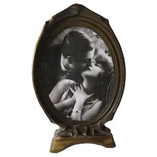 Pie Crust Gilded Photo Frame Art Nouveau 1915
