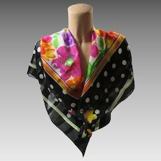Polka Dots And Posies Fashion Scarf Italy Berkshire