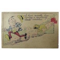 Comic Post Card Signed Lederer Posted 1911 Rohnerville CA
