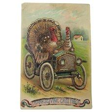 Sparkling Turkey Thanksgiving Post Card