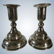 Handmade Sterling Candlesticks Mexico Signed