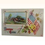 Patriotic Thanksgiving Greetings 1914 Postcard