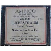 Ampico Reproducing Piano Roll Liebestraum Dream 68653H