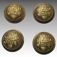 Civil War GAR Uniform Button Covers Set Of 4