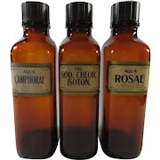 Apothecary Pharmacy Bottles Set Of Three Large