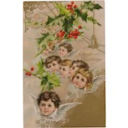 Choir of Christmas Angels Post Card Circa 1910