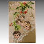 Choir of Christmas Angels Post Card Circa 1910